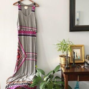 [ a n t h r o :: m a e v e ] Tribal Maxi Dress
